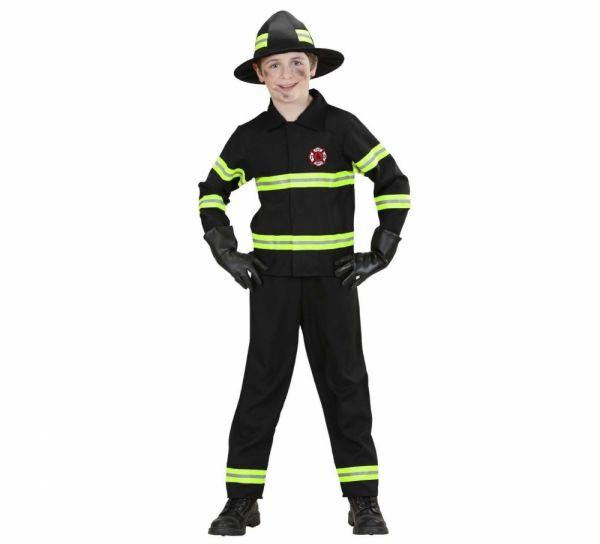 Kinderkostüm - Feuerwehrmann, Hemd, Hose und Mütze, Größe 158
