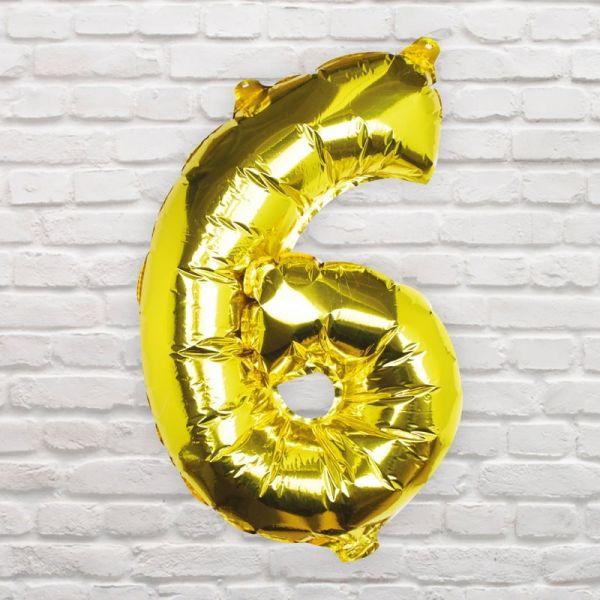 Ginger Ray - Zahlenballon Gold 6