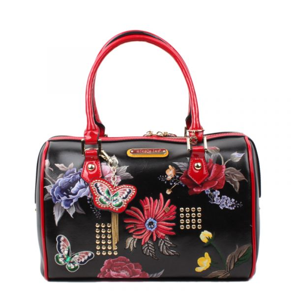 "Nicole Lee - Handtasche ""Anouk Floral"" Boston Bag schwarz"