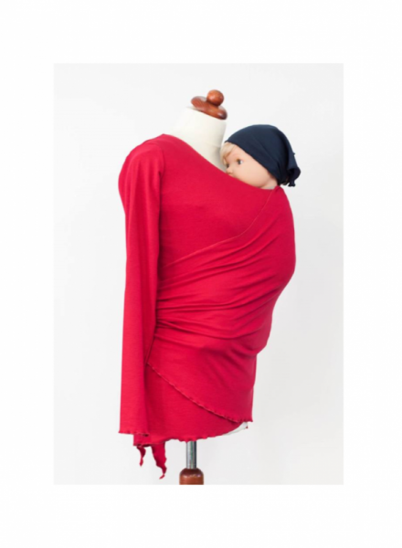 Angel wings 068 - Sommer Trage-Sweater raspberry- rot