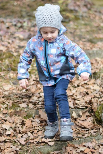 Green Baby 063 - Softshell Jacke Frühling bis Herbst ungefüttert Waldfreunde