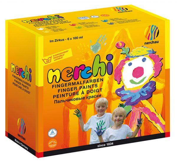 "Nerchau - Nerchi Fingermalfarben Set ""im Zirkus"""