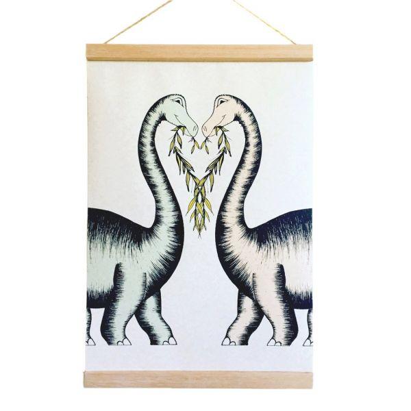 Dino Raw - Poster Brontosaurus Heart