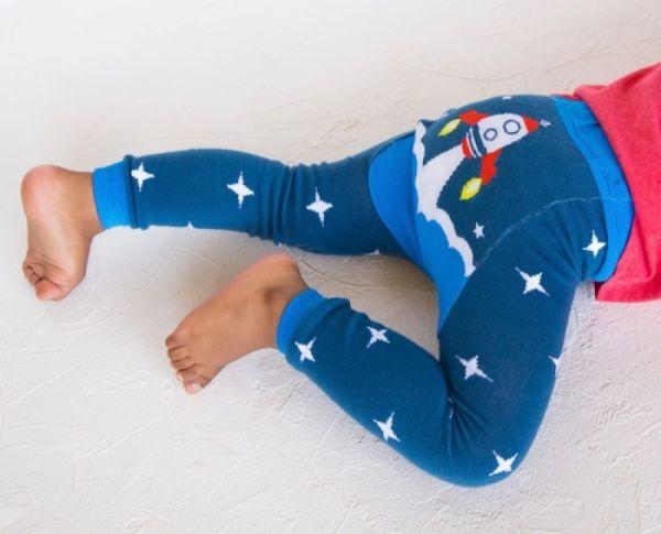 Doodle Pants - Blue Rocket Leggings