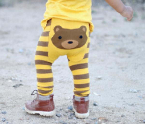 Doodle Pants - Woodland Bear Leggings