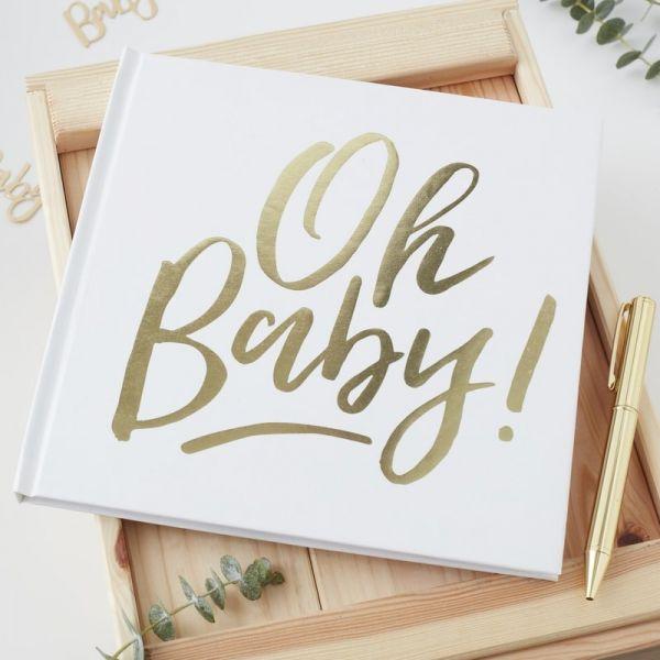 """Ginger Ray - Gästebuch für Babyshower """"Oh, Baby"""""""