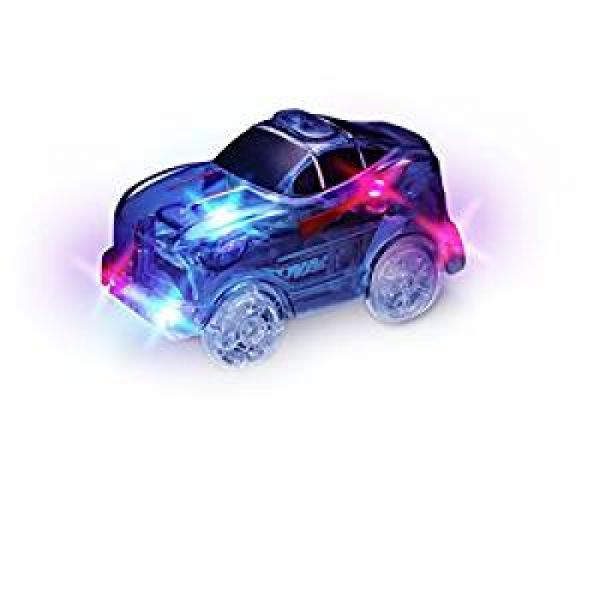 Magic Tracks Rennwagen Blau mit 5 LEDs