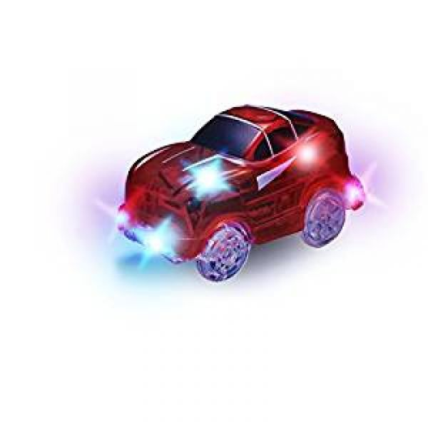Magic Tracks Rennwagen Rot mit 5 LEDs