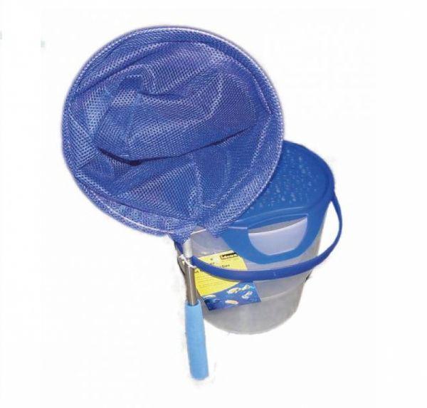 Fischeimer mit Henkel, blau