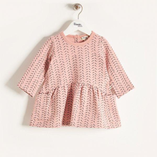 Bonniemob - Kleid Orla Bambus Print rosa
