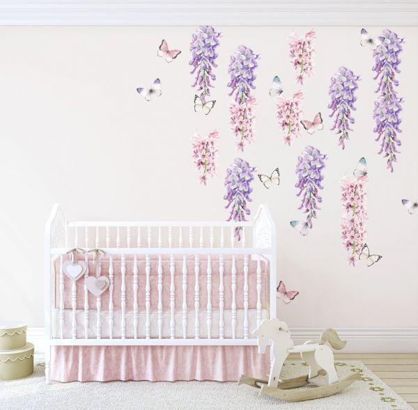 Ginger Monkey - Wisteria, Hyacinth & Butterflies Set