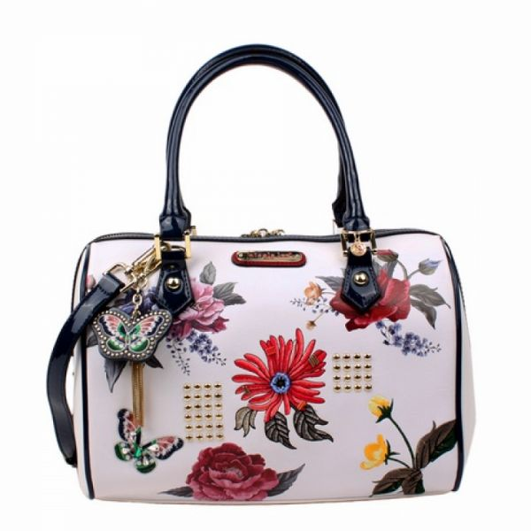 """Nicole Lee - Handtasche """"Anouk Floral"""" Boston Bag weiss"""