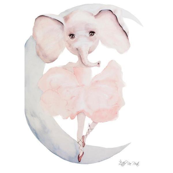Little Rae Prints - Poster Ever Ballerina Elephant