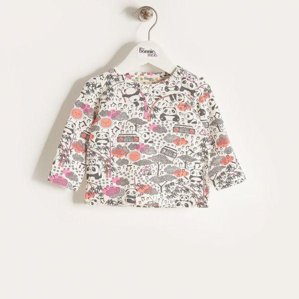 Bonniemob - Shirt Panda Print rosa