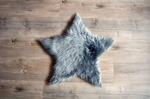 Kroma Carpets - Kunstlammfell Stern grau