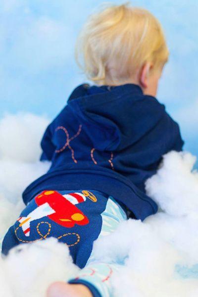 Doodle Pants - Red Plane Cloud Leggings