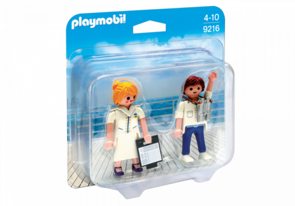 PLAYMOBIL® 9216 - Duo Pack Stewardess und Offizier