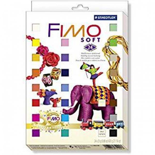 Staedtler - Fimo Soft Nostalgie Materialpack, ofenhärtend, 24 Blöcke