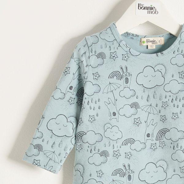 Bonniemob - Shirt Sunshine & Rain blau