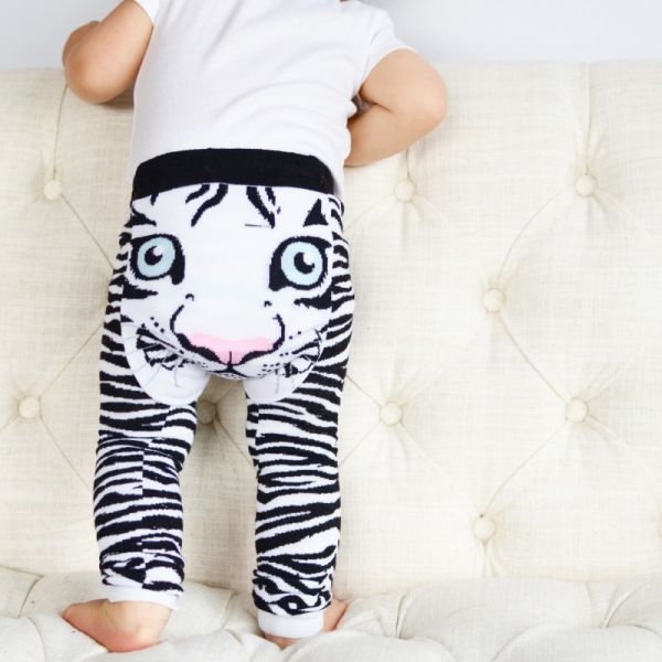 Doodle Pants - Tiger white Leggings