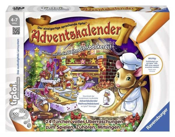 Ravensburger tiptoi® - Adventskalender In der Weihnachtsbäckerei