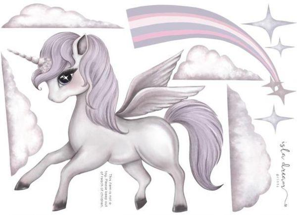 Isla Dream Prints - Wandsticker Scarlett Pegasus A4