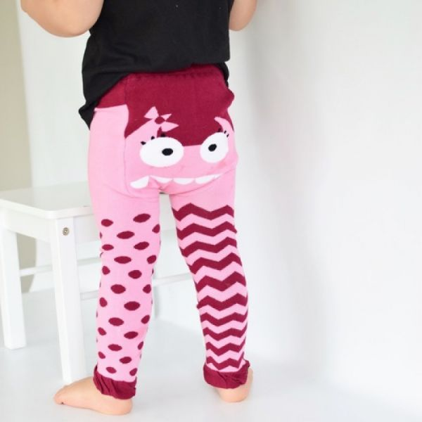 Doodle Pants - Pink Monster Leggings