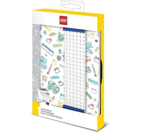 LEGO® - Notizbuch bunt mit Lesezeichenband