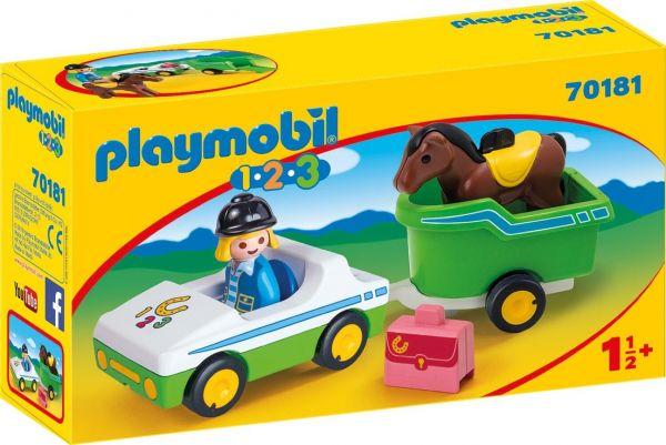 PLAYMOBIL® 70181 - PKW mit Pferdeanhänger