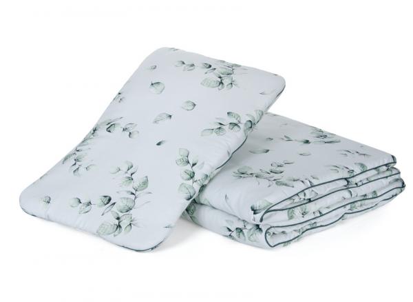 "Qbana Mama - Bettdeckenset mit Kissen gefüttert ""Eukalyptus"""