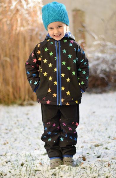 Green Baby - Softshell Hosen Rainbow Stars