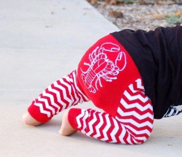 Doodle Pants - Red Lobster Leggings