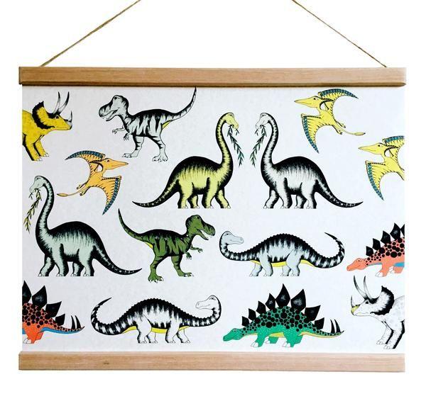 Dino Raw - Poster Wandering Dinosaurs