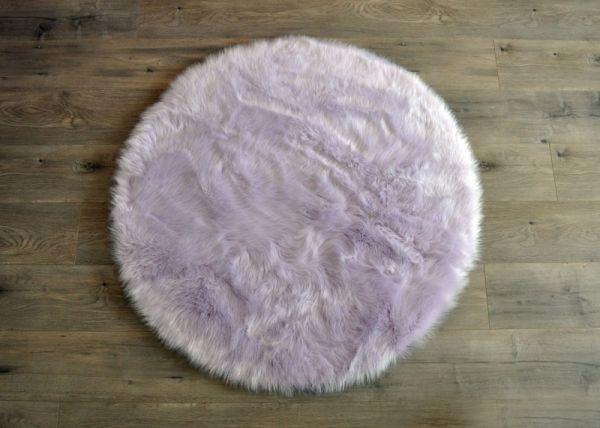 Kroma Carpets - Kunstlammfell Kreis lavender