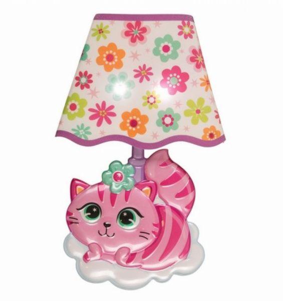 LED Wandsticker Lampe Katze
