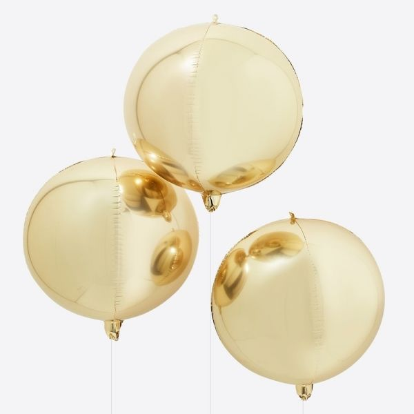 Ginger Ray - Gold Orb Balloons