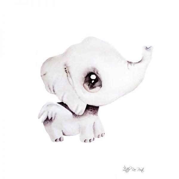 Little Rae Prints - Poster Effie the Elephant