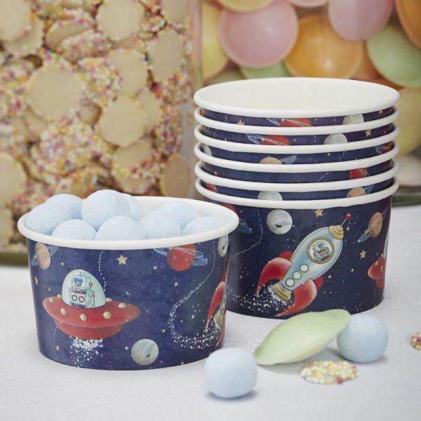 Ginger Ray - Partyschalen / Eiscremeschale Space Adventure