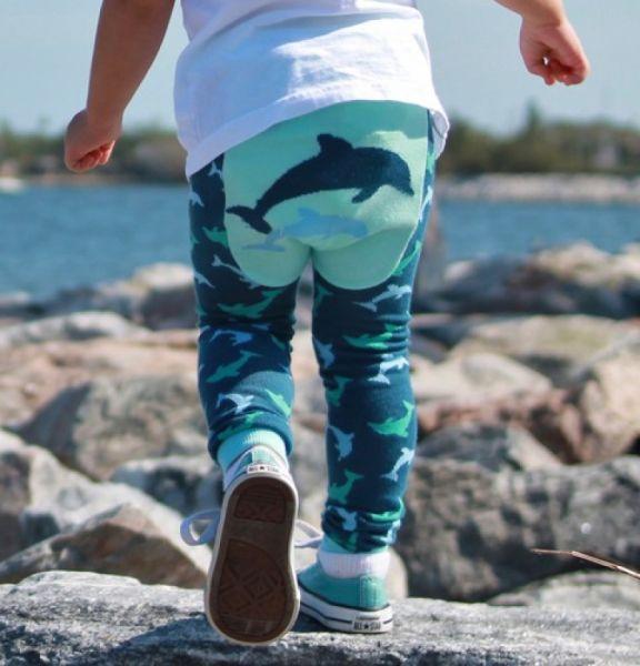 Doodle Pants - Dolphin blue Leggings