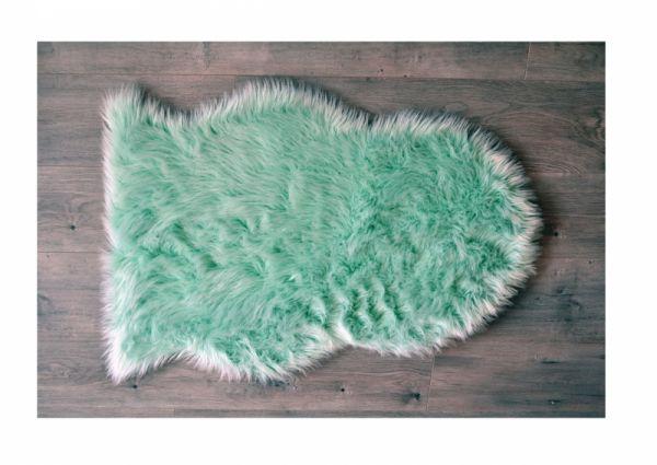 Kroma Carpets - Kunstlammfell Pelt mint