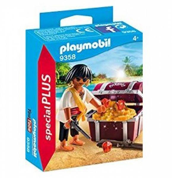 PLAYMOBIL® 9358 - Pirat mit Schatzkiste