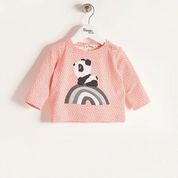 Bonniemob - Shirt Rainbow Panda sorbet