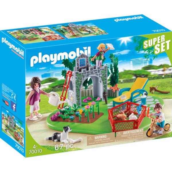 PLAYMOBIL® 70010 - SuperSet Familiengarten