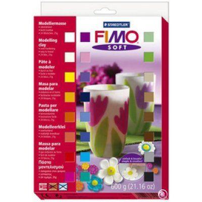 Staedtler - Fimo Soft Materialpackung mit 24 Halbblöcken