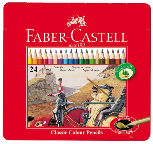Faber-Castell - Buntstifte Classic Colour, 24er Metalletui