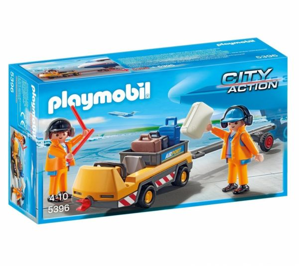 PLAYMOBIL® 5396 - Flugzeugschlepper mit Fluglotsen