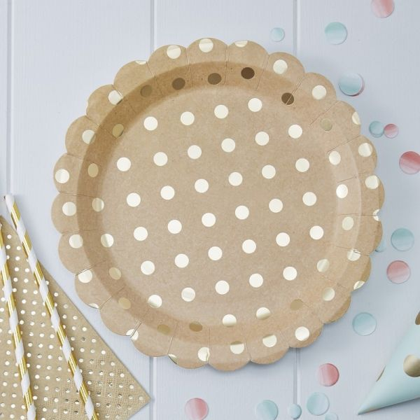 Ginger Ray - Pappteller Polka Dots Pick and Mix
