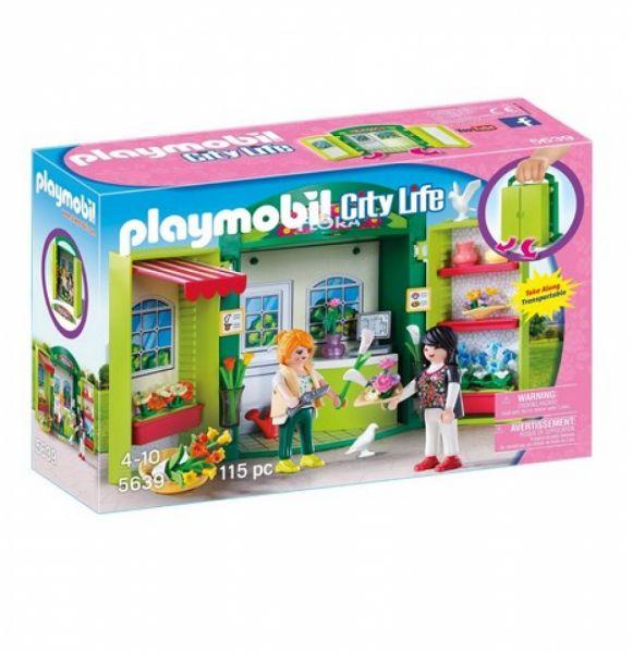 "PLAYMOBIL® 5639 - Aufklapp-Spiel-Box ""Blumenladen"""