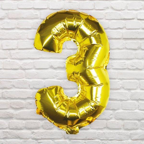 Ginger Ray - Zahlenballon Gold 3