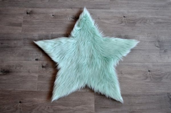 Kroma Carpets - Kunstlammfell Stern mint